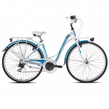 Torpado T441 Partner bianca/blue - city bike donna 2019 | Mancini Store