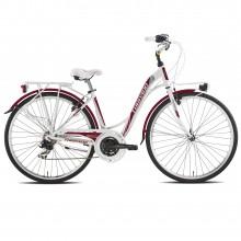 Torpado T441 Partner bianca/rossa - city bike donna 2019 | Mancini Store