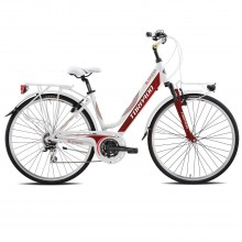 Torpado T433 Business Lady bianca-rossa - city bike donna | Mancini Store