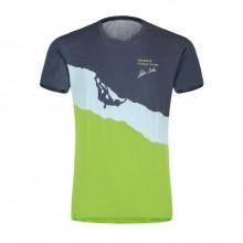 Silence T-Shirt Uomo Montagna Piombo Green 2019