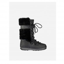 Moon Boot Monaco Fur WP Black