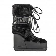 Moon Boot Classic Faux Fur Black