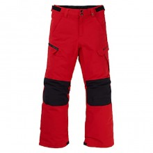 B Exile Cargo Pantalone Snowboard Bambino Scarlet