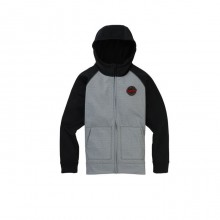 Burton B Crown BND FZ - Felpa Snowboard Bambino Gray Heather | Mancini Store