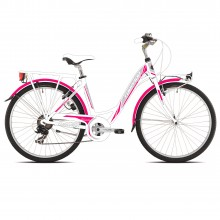 Torpado Partner T441 fucsia 6V - city bike donna   Mancini Store