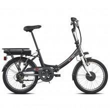 "Torpado E-Bike 1281 Folding 20"" Bicicletta Elettrica Pieghevole Nero"