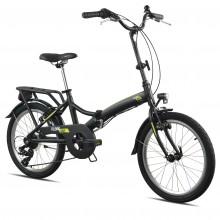 """Ciclo T2750 Pieghevole 20"""" Bicicletta Black"""