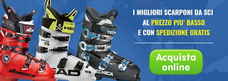 Acquista online i migliori scarponi da sci