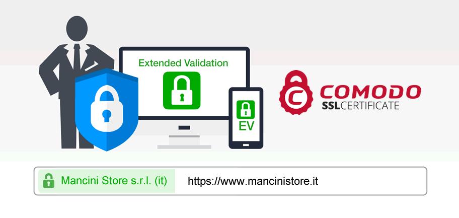 Mancini Store - acquisti sicuri SSL EV Comodo