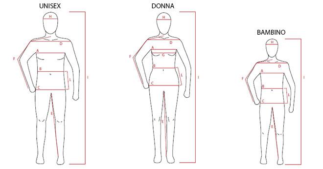 Taglie Montura: Misure corporee per abbigliamento uomo, donna e bambino
